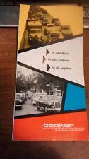 Becker autoradio brochure in German only , 50's or 60's