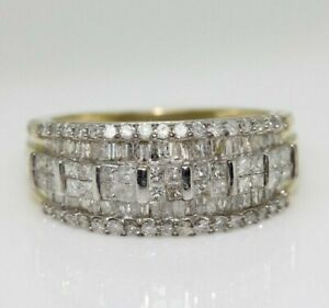 9ct Yellow Gold 1.00ct Diamond Gypsy Ring (Size N, US 6 3/4)