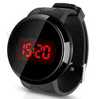 Watch, Sunstone Fashion Men LED Touch Screen Date Day Silicone Bracelet Wat H2U0