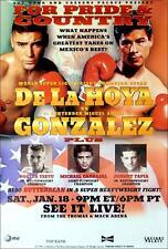 Original Oscar DeLaHoya vs. Miguel Angel Gonzalez Boxing Fight Poster