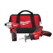 Milwaukee 2491-22 M12 12-Volt Cordless Power Lithium-Ion 2-Tool Combo Kit