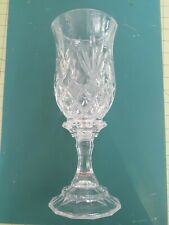 glass candle holders, hurricane style 11 1/2 inches tall