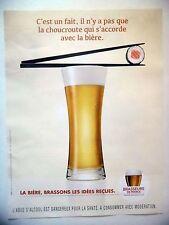 PUBLICITE-ADVERTISING :  BRASSEURS DE FRANCE Choucroute,Soushi 2016 Bière,Alcool
