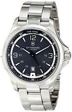 Victorinox Swiss Army Black Dial Stainless Steel Quartz Mens Watch 241569