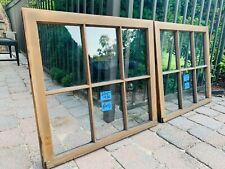 2 - 30 x 27 Vintage Window sash old 6 pane From 1937 Arts & Crafts
