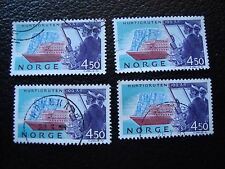 NORVEGE - timbre yvert et tellier n° 1085 x4 obl (A04) stamp norway (T)