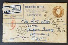 May 1945 Sidi Gaber Alexandria Egypt Registered Censored Forwarded WWII Cover