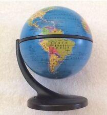 2001 Replogle Small Gyroscoping Spinning Globe On Plastic Stand Desktop Map