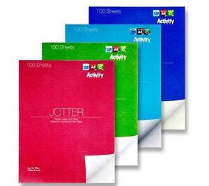 A5+ Jotter White Paper 100 Activity Sheets Drawing Sketching Colouring Note Book