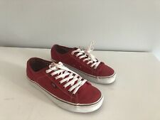 VANS Canvas Trainers Shoes in Red – Size UK 9