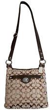 Coach 16536  Medium Khaki & Brown Penelope Signature Hippie Bag
