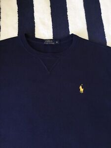 Mens Ralph Lauren Navy Blue Sweatshirt In Medium