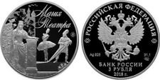 3 Rubel Russland PP 1 Oz Silber 2018 Magic of Theatre Proof