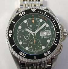 Bulova Accutron Automatic 25J Valjoux 7750 VX200 Stainless Steel Chrono Watch B5