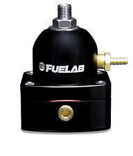 [54501-1] Fuelab Mini Fuel Pressure Regulator with Gauge -6AN Black FPR In-line