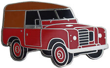 Land Rover series III car cut out lapel pin - Red