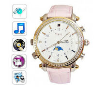 8GB Women's Lady Watch Camera MP3 Player Spy Hidden Camera DVR Voice Recording