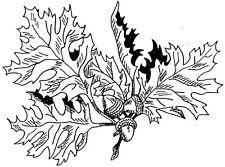 Unmounted Rubber Stamps, Tree, Trees, Fall Leaves, Oak Leaf, Oak Leaves, Acorn