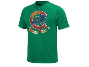 NWT Chicago Cubs Majestic Kelly Green MLB Shamrock Fields T-Shirt - S, M, L, XL