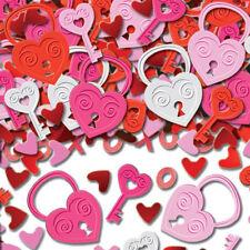Día de San Valentín Llave De Mi Corazón Confeti de mesa Amor chispas corazón Candados Y Llaves