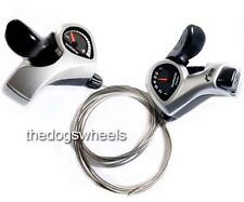 Pair Shimano 6 Speed Gears Thumbshifter Trigger Shifters MTB Bicycle Bike