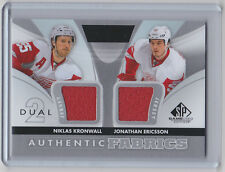 12-13 2012-13 SP GAME USED KRONWALL ERICSSON AUTHENTIC FABRICS DUAL JERSEY WINGS