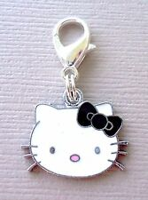 Dangle Pendant Hello Kitty Clip On Charm with Lobster Clasp fits Link Chain C115