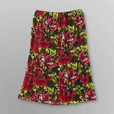 Notations womens plus skirt floral print Chiffon skirt sizes 1X 2X NEW