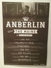ANBERLIN 2013 Australian Tour Poster A2 The Maine William Beckett VITAL **NEW**