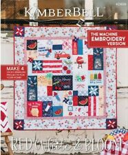 KimberBell Red, White, & Bloom Machine Embroidery CD with Book (In Stock today)