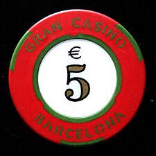 es.GRAN CASINO BARCELONA, España / Ficha actual con valor de €5 (#9191)22.10