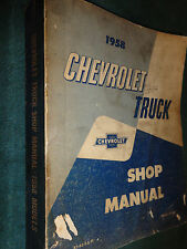 1958 CHEVROLET TRUCK SUBURBAN PANEL SHOP MANUAL BASE BOOK FOR 1959 / ORIGINAL!