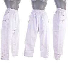 Pantalon pantacourt Femme Chino blanc T 5 44 46 louisa ZAZA2CATS