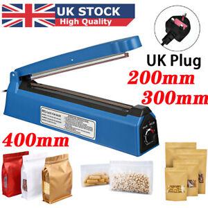 "Hand Impulse Sealer Plastic Bags Film Heating Heat Sealer Machine  8"" 12"" 16"""