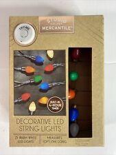 Retro LED String Lights Novelty Vintage Look Bulbs 10 Feet 25 Bulb