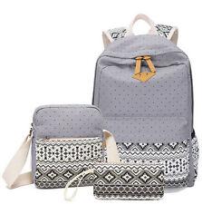 3pcs/Set Backpack Women Canvas Travel Bookbags School Bags for Teenage Girls
