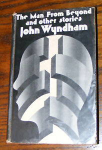 THE MAN FROM BEYOND John Wyndham First Edition hardcover UK 1975 hardback EXLIB