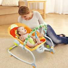 Electric Rocker Baby Swing Portable Cradle Bouncer Seat Sway Chair