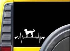 """Goldendoodle Lifeline K598 8"""" vinyl sticker dog decal"""