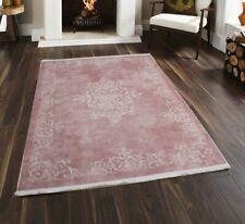 Brillant Teppich Pura Pink Rosa Edel Modern Muster Orientalisch Waschmaschinenge