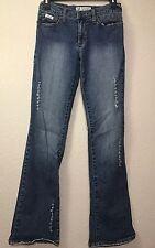 Baby Phat Pants Medium Wash  Denim Factory Distressed Size 3 Jeans