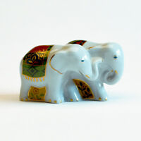 Royal Crown Derby Noah's Ark Collection - A Pair of Miniature Elephants