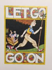Vintage Mary Engelbreit Let Go Go On Clip Art Repurpose Calendar Page