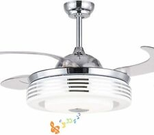 """42"""" Ceiling Fan with Lights Smart Bluetooth Speaker Remote Control Chandeliers"""