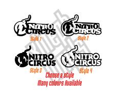 2 x Pegatina Calcomanía Vinilo Nitro Circus Contorno Travis Pastrana Motocross Gráficos