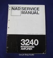 Original NAD 3240 Integrated Amplifier Service Manual