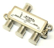 Dynex DX-AV101 Antenna Splitter F Connector Audio Video 3-way Coaxial Adapter