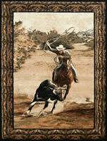 COWBOY RODEO 5x7 AREA RUG FOR THE HOME *NEW*