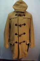 VINTAGE MAN'S BARBOUR WOOL CASHMERE  DUFFLE HOODED COAT SIZE M