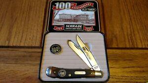 SCHRADE Old Timer USA 94OT Trapper Pocket Knife 100Th Anniversary w/Tin
